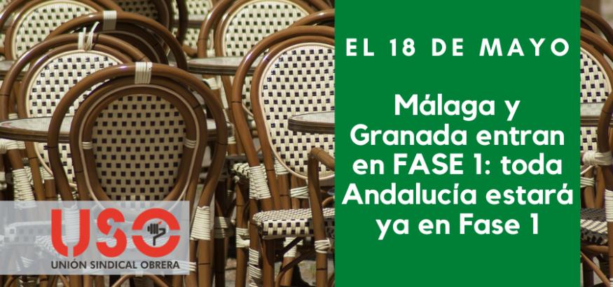 Granada y Málaga entran en Fase 1 de desescalada el 18 de mayo, con toda Andalucía