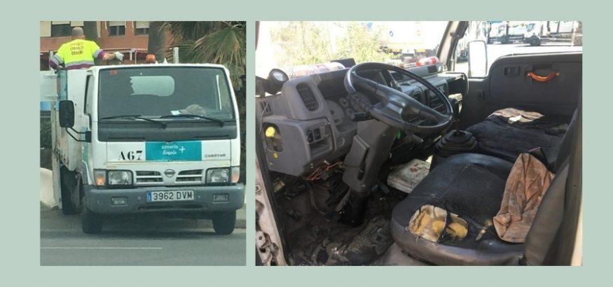 USO denuncia falta de maquinaria en la limpieza urbana de Almería. Sindicato USO-Andalucía