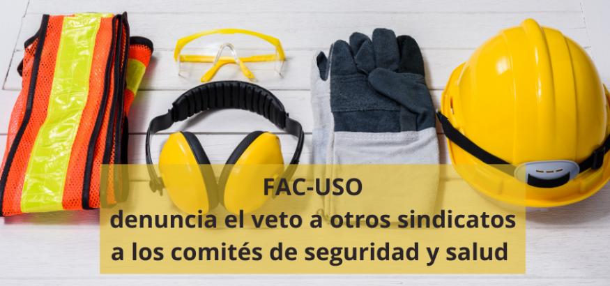 USO denuncia que la Junta obstaculiza los comités de seguridad y salud. Sindicato USO-Andalucía