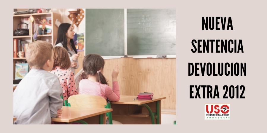 USO consigue la devolución de la extra a 132 profesores de Córdoba. Sindicato USO-Andalucía