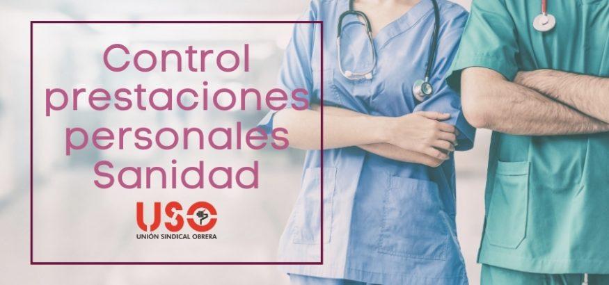 USO-Andalucía exige el control de las prestaciones personales en Sanidad