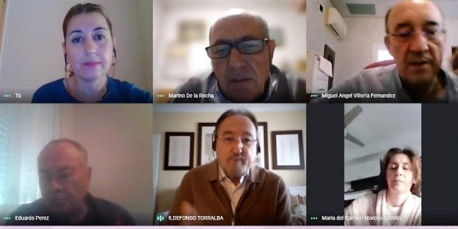 Primera reunión de la nueva gestora de AJUPE USO-Andalucía. Sindicato USO-Andalucía