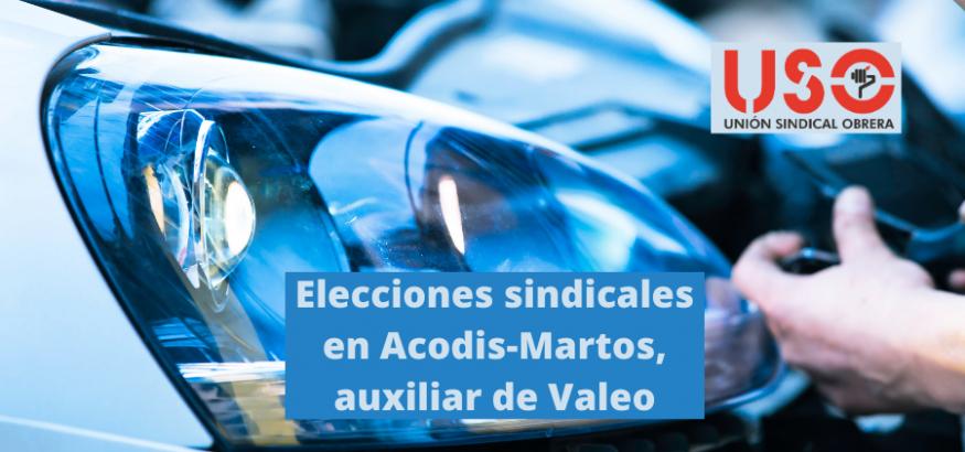 FI-USO entra con 3 delegados en las elecciones sindicales en Acodis, auxiliar de Valeo en Martos