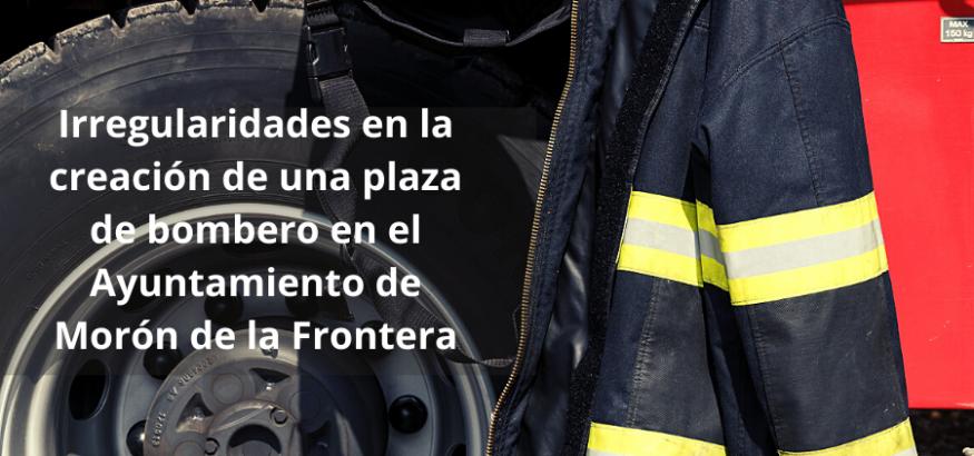 USO denuncia irregularidades en la creación de una plaza de Bomberos en Morón