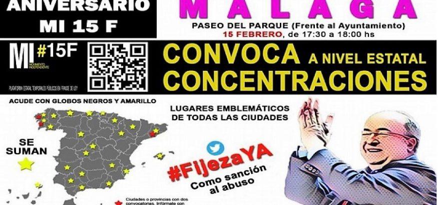 FAC-USO Andalucía llama a participar en las concentraciones del 15 de febrero