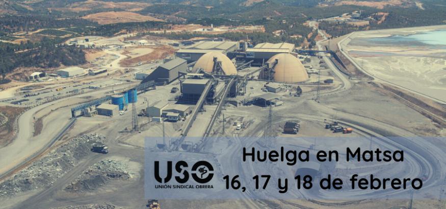Huelga en Matsa contra el incumplimiento de convenio y despidos. Sindicato USO-Andalucía