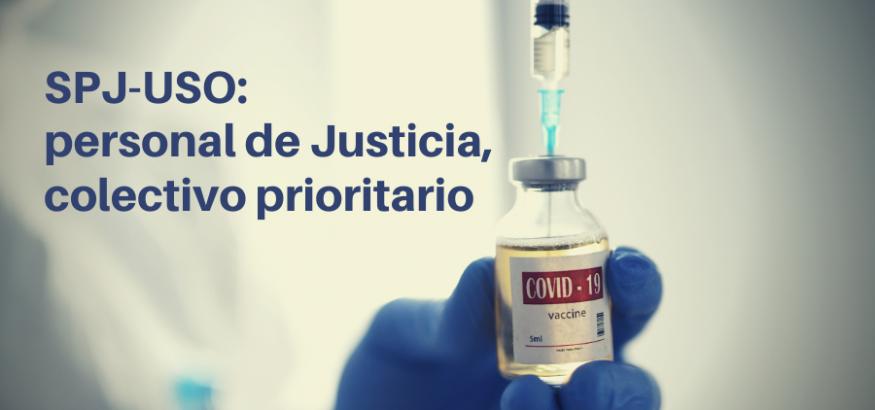 USO-Andalucía pide que el personal de Justicia sea colectivo prioritario en la vacunación