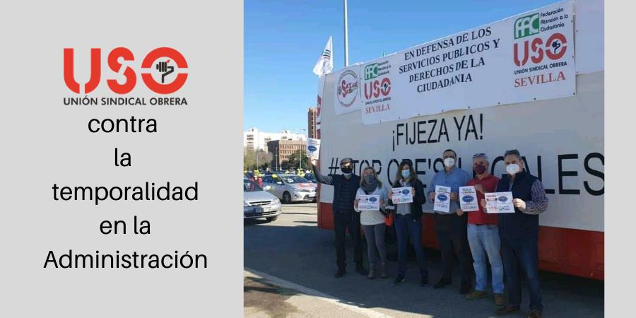 FAC-USO Andalucía, en las caravanas contra la temporalidad en las Administraciones