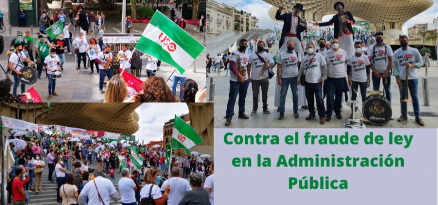 FAC-USO: en las calles de Sevilla contra el abuso de la temporalidad en la Administración