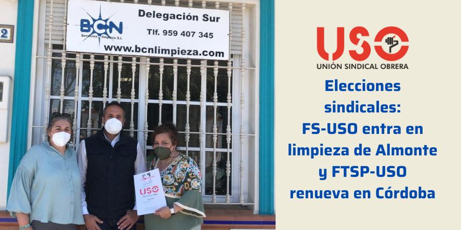 FS-USO suma 2 nuevas delegadas en limpieza y FTSP-USO renueva en Córdoba