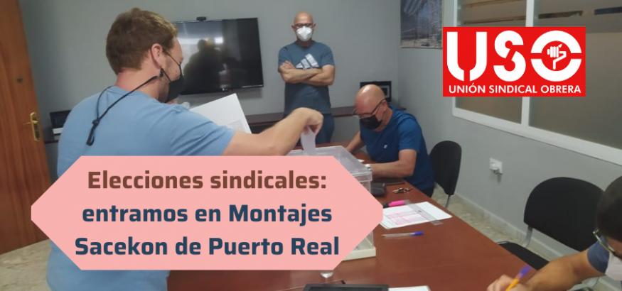 Elecciones sindicales: USO se estrena en Montajes Sacekon, de Puerto Real