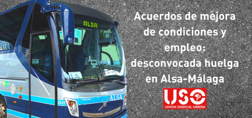 Desconvocada la huelga en Alsa de Málaga tras éxito de la negociación sindical