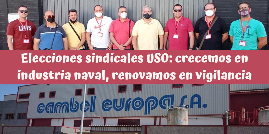 USO crece en Industria en Cádiz y renueva representación en Prosegur SIS Sevilla