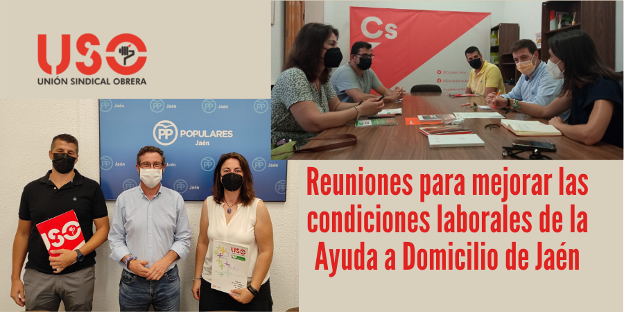 USO-Jaén inicia ronda de contactos para mejorar las condiciones de la Ayuda a Domicilio