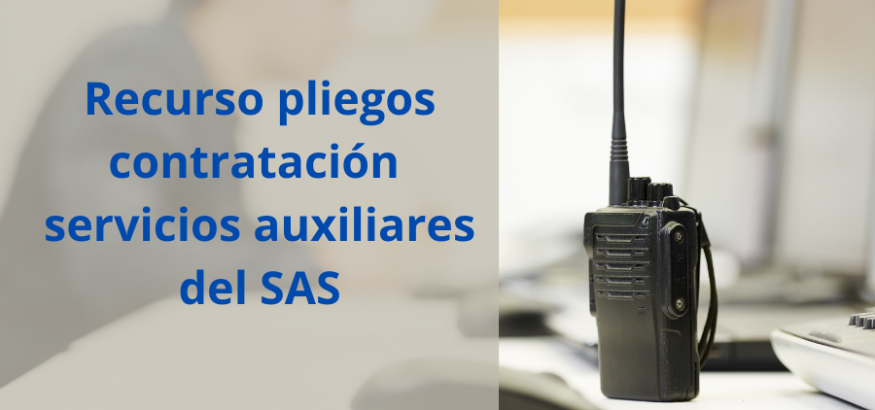 USO presenta recurso a los pliegos de servicios auxiliares del SAS