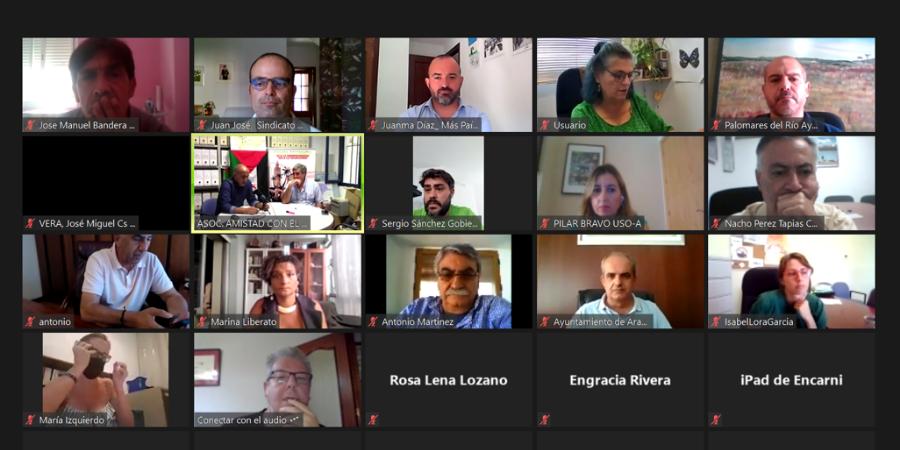 USO se reúne con la asociación Amistad con el Pueblo Saharaui de Sevilla